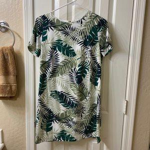 Lulu's Leaf Print Dress